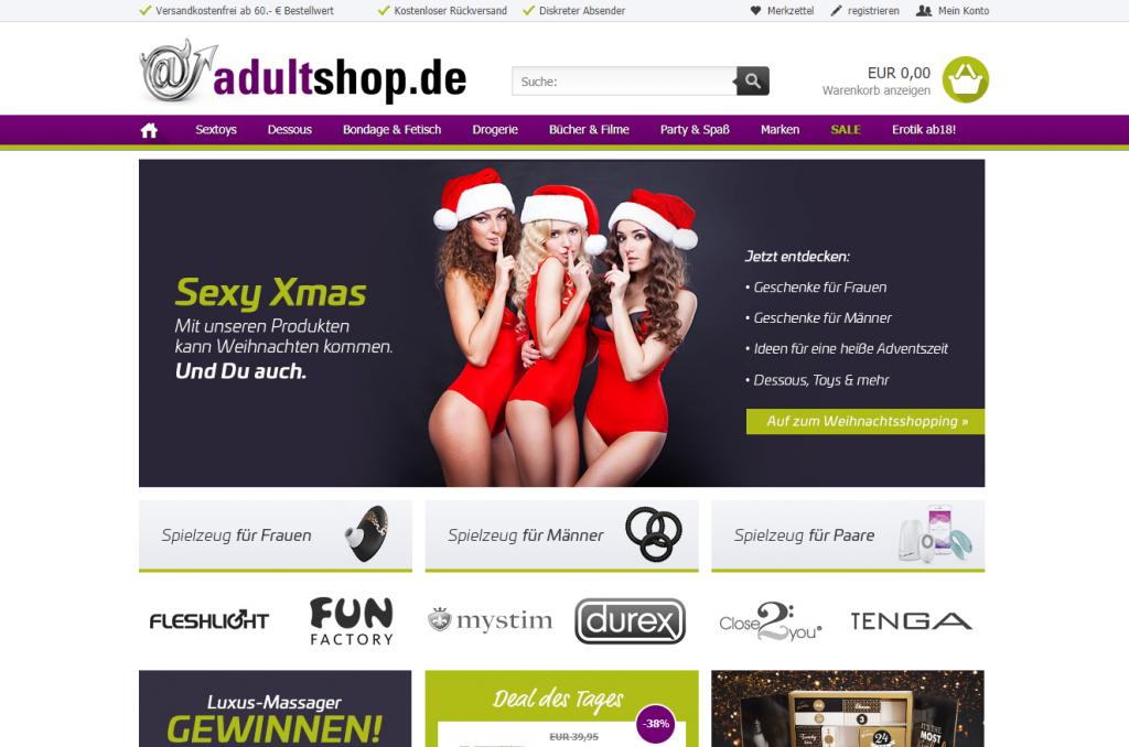 Website Screenshot adultshop