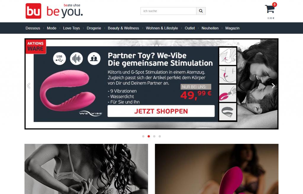 Website Screenshot Beate Uhse
