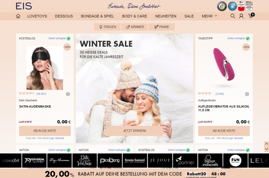 Website Screenshot Eis.de